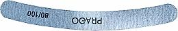 Духи, Парфюмерия, косметика Пилочка для ногтей изогнутая, 80/100 - Prago