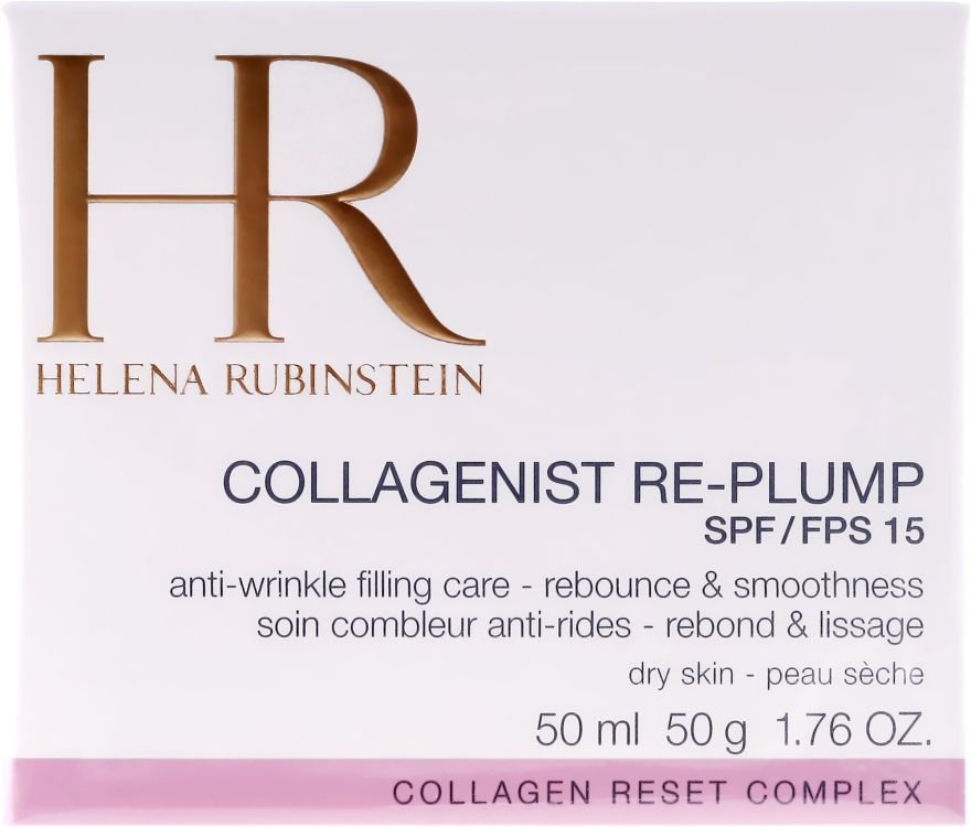 Антивозрастной крем для сухой кожи - Helena Rubinstein Collagenist Re-Plump SPF 15 — фото N2