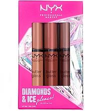 Духи, Парфюмерия, косметика Набор - Diamond & Ice Please! Butter Gloss Trio Gift Box 1 (lip/gloss/3x8ml)