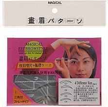 Трафарет для бровей, размер C1, C2, C3, C4 - Magical Eyebrow Style — фото N1