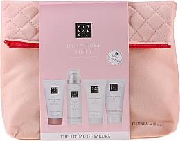 Духи, Парфюмерия, косметика Набор - The Ritual of Sakura Renewing Treat (b/cr/70ml + sh/g/50ml + shampoo/70ml + b/scrub/70ml + bag)