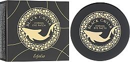 Гидрогелевые патчи под глаза с черной икрой - Esfolio Black Caviar Hydrogel Eye Patch — фото N1