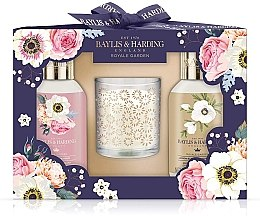Духи, Парфюмерия, косметика Набор - Baylis & Harding Royale Garden Set (sh/gel/100ml + sh/cream/100ml + candle)