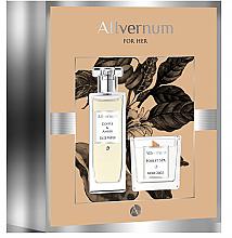 Духи, Парфюмерия, косметика Allvernum Coffee & Amber - Набор (edp/50ml + candle/100g)