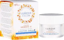 Духи, Парфюмерия, косметика Ночной восстанавливающий крем-сон - Lumene Valo Overnight Bright Vitamin C Sleeping Cream