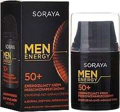Духи, Парфюмерия, косметика Крем против морщин, питает и восстанавливает 50+ - Soraya Men Energy
