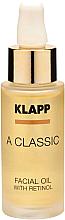 Духи, Парфюмерия, косметика Масло для лица с ретинолом - Klapp A Classic Facial Oil With Retinol