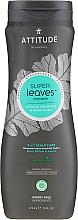 Духи, Парфюмерия, косметика Шампунь-гель для душа - Attitude Super Leaves Natural Shampoo & Body Wash 2-in-1 Scalp Care