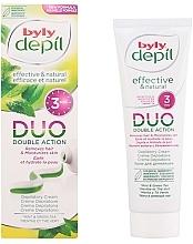 Духи, Парфюмерия, косметика Крем для депиляции - Byly DUO Double Action Mint & Green Tea