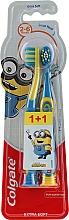 """Духи, Парфюмерия, косметика Детская зубная щетка """"Smiles"""", 2-6 лет, желто-синяя, экстрамягкая - Colgate Smiles Kids Extra Soft"""