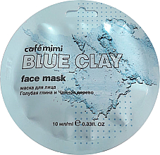 "Духи, Парфюмерия, косметика Маска для лица ""Голубая глина и Чайное дерево"" - Cafe Mimi Blue Clay Face Mask"