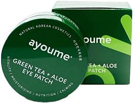 Духи, Парфюмерия, косметика Патчи под глаза с экстрактом зеленого чая и алоэ - Ayoume Green Tea + Aloe Eye Patch