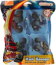"Духи, Парфюмерия, косметика Набор мочалок ""Вспыш"" 4шт, светло-синие - Suavipiel Bath Sponges Blaze And The Monster Machines"