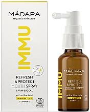 Духи, Парфюмерия, косметика Освежающий и защищающий спрей для полости рта - Madara Cosmetics IMMU Refresh & Protect Mouth Spray