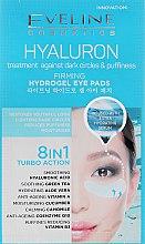 Духи, Парфюмерия, косметика Освежающие патчи для глаз - Eveline Cosmetics Hyaluron Hydrogel Illuminating Eye Pads 8in1