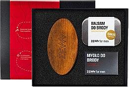 Духи, Парфюмерия, косметика Набор - Zew For Men (balm/80 ml + soap/85ml + brush)