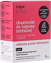 Духи, Парфюмерия, косметика Салфетки для интимной гигиены антибактериальные 8шт - Tolpa Intima