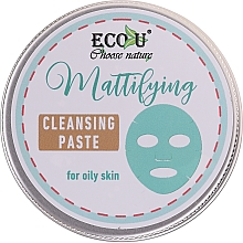 Духи, Парфюмерия, косметика Очищающая паста для лица - ECO U Mattifying Cleansing Paste For Oily Skin