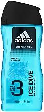 Духи, Парфюмерия, косметика Гель для душа - Adidas Ice Dive Body, Hair and Face Shower Gel