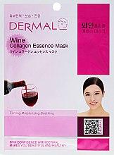 Духи, Парфюмерия, косметика Маска с коллагеном и экстрактом красного вина - Dermal Wine Collagen Essence Mask
