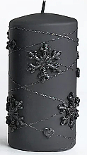 Духи, Парфюмерия, косметика Декоративная свеча, черная, 7х14см - Artman Snowflake Application