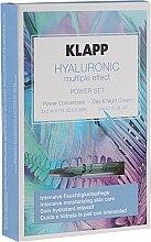 Духи, Парфюмерия, косметика Набор - Klapp Hyaluronic Multiple Effect Power Set (f/conc/3x2ml + f/cr/3ml)