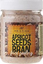 Духи, Парфюмерия, косметика Пилинг для лица абрикосовый - Hristina Cosmetics Apricot Seeds Bran Face Peeling