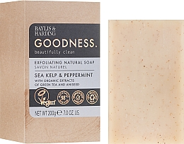 Духи, Парфюмерия, косметика Мыло - Baylis & Harding Goodness Sea Kelp & Peppermint Exfoliating Natutal Soap