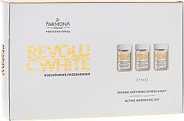 Духи, Парфюмерия, косметика Набор - Farmona Revolu C White Set (concentrate/10x5ml + mask/base/10x12ml + activator/10x2g)