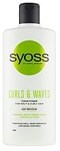 Духи, Парфюмерия, косметика Кондиционер для кудрявых и волнистых волос - Syoss Curls & Waves Conditioner With Soi Protein