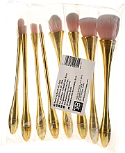Духи, Парфюмерия, косметика Набор профессиональных кистей для макияжа, 8 шт, розовые с золотым - Tools For Beauty