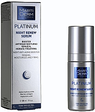 Духи, Парфюмерия, косметика Восстанавливающя ночная сыворотка - MartiDerm Platinum Night Renew Serum