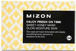 Духи, Парфюмерия, косметика Увлажняющая и питательная мгновенная маска с экстрактом меда - Mizon Enjoy Fresh On-Time Mask Honey Mask