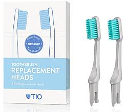 Духи, Парфюмерия, косметика Сменные насадки для зубной щетки, мягкая щетина, серая - TIO Toothbrush Soft