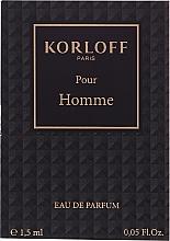 Духи, Парфюмерия, косметика Korloff Paris Pour Homme - Парфюмированная вода (пробник)