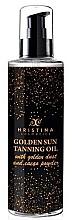Духи, Парфюмерия, косметика Золотое масло для загара - Hristina Cosmetics Golden Sun Tanning Oil