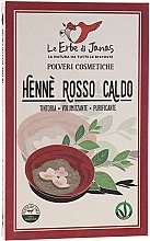 "Духи, Парфюмерия, косметика Порошок для волос ""Rosso Caldo"" - Le Erbe di Janas Red Henna Hot Shades"