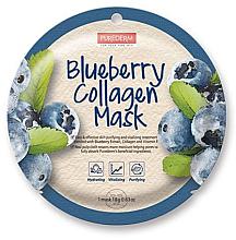 Духи, Парфюмерия, косметика Коллагеновая маска с голубикой - Purederm Blueberry Collagen Mask