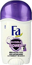 Духи, Парфюмерия, косметика Дезодорант-стик - Fa Invisible Power Deodorant Stick