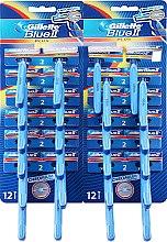 Духи, Парфюмерия, косметика Набор одноразовых станков для бритья, 48шт - Gillette Blue II Plus
