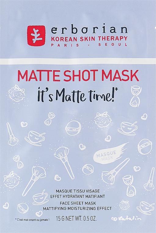 Матирующая тканевая маска для лица - Erborian Matte Shot Mask — фото N1