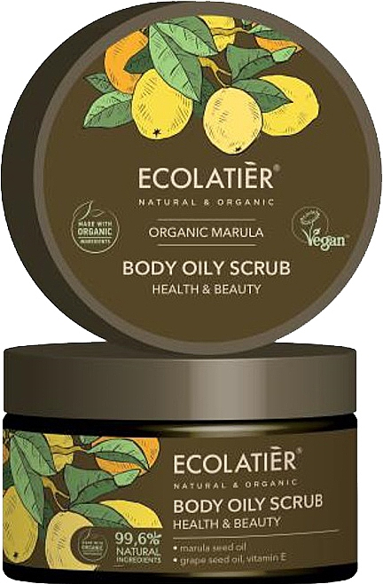 "Масляный скраб для тела ""Здоровье и красота"" - Ecolatier Organic Marula Body Oily Scrub — фото N1"