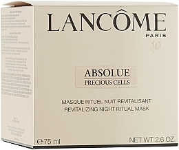 Духи, Парфюмерия, косметика Маска для лица - Lancome Absolue Precious Cells Night Ritual Mask