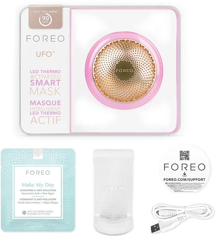 Смарт-маска для лица - Foreo UFO Smart Mask Treatment Device Pearl Pink — фото N3