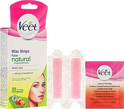 Духи, Парфюмерия, косметика Полоски восковые с аргановым маслом для лица - Veet Natural Inspirations Face Wax Strips