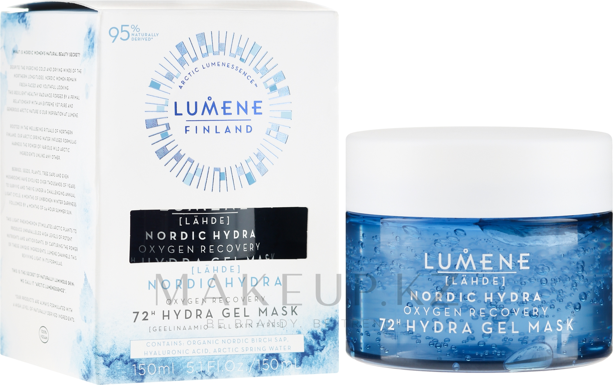 Увлажняющая и восстанавливающая кислородная маска для лица - Lumene Nordic Hydra 72H Gel Mask — фото 150 ml