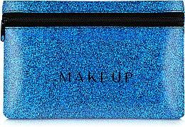 """Духи, Парфюмерия, косметика Косметичка силиконовая, синяя """"Glitter Pouch"""", 18х11см - MakeUp"""