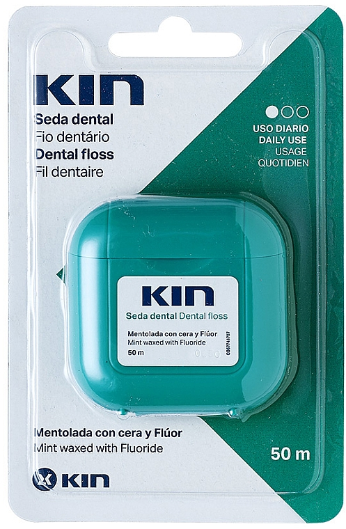 Зубная нить - Kin Dental Floss With Wax Minty — фото N1