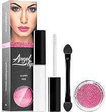 Духи, Парфюмерия, косметика Набор - Di Angelo Angel Lips (base/4ml + glitter/3g) (002 – Seductive)