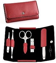 Духи, Парфюмерия, косметика Маникюрный набор, 5 предметов - Tweezerman Twinox Red Manicure Case Box